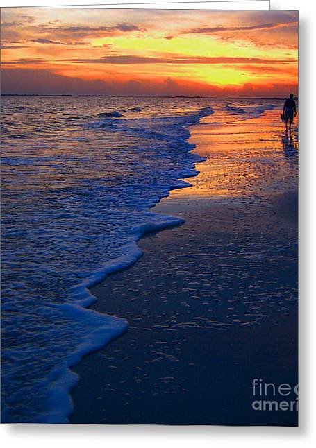 Ft. Meyers Beach Greeting Cards - Sunset 1 Greeting Card by Jeff Breiman