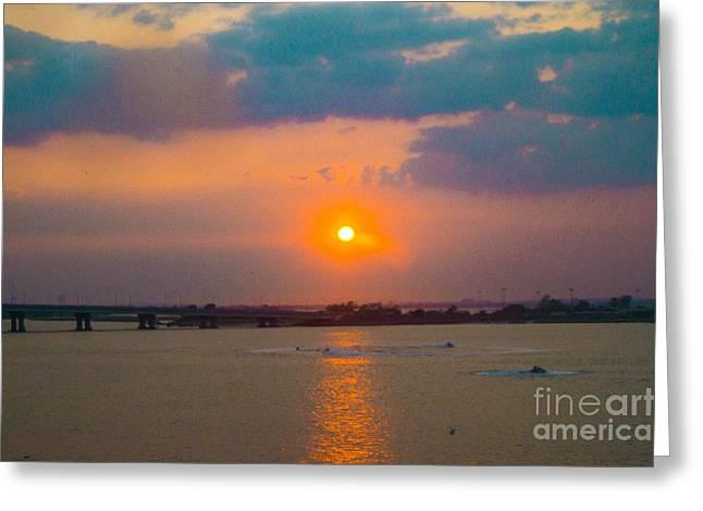 Sunset Framed Prints Digital Art Greeting Cards - Sunset 2 Greeting Card by Chris Baboolal