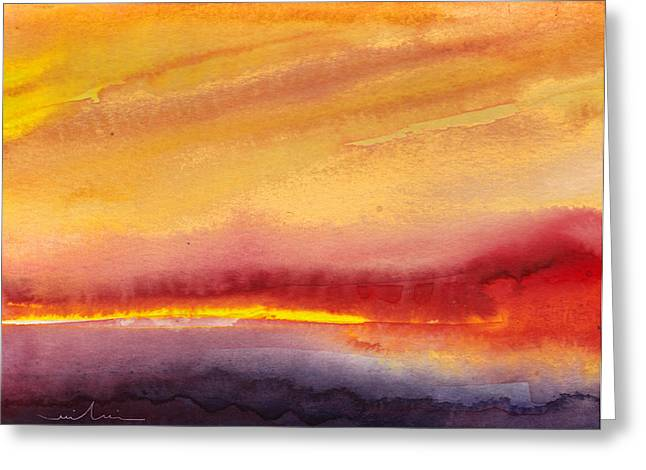 Lumiere Greeting Cards - Sunset 21 Greeting Card by Miki De Goodaboom