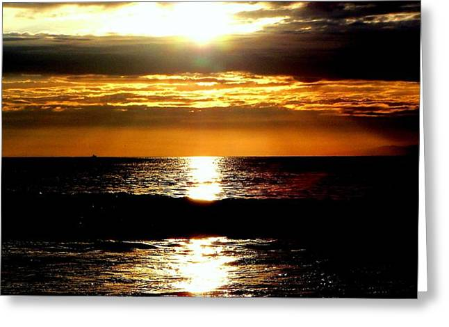 Vintage Painter Greeting Cards - Sunset 4 Greeting Card by J Perez