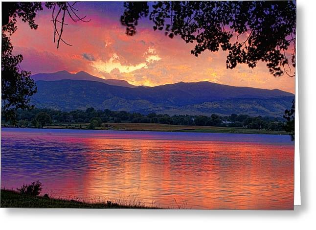 Sunset Posters Greeting Cards - Sunset 6.27.10 - 28 Greeting Card by James BO  Insogna