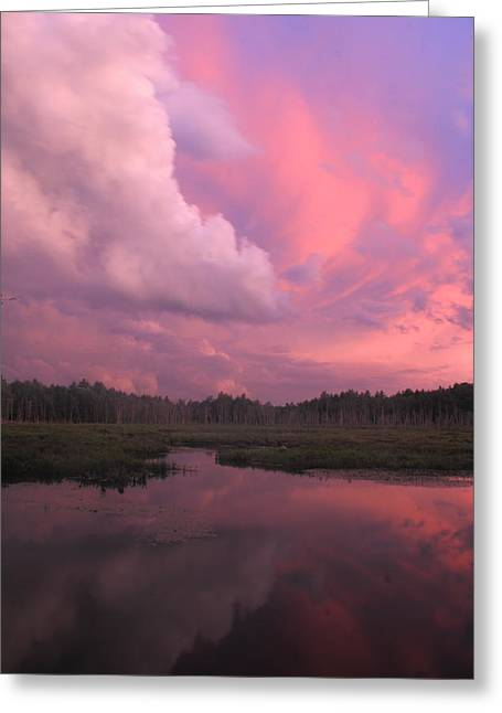 Sunset After Thunderstorm Greeting Card by John Burk