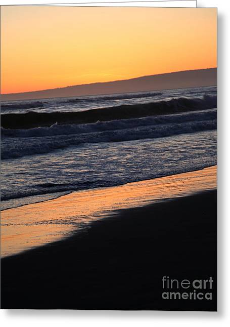 Pacific Ocean Prints Greeting Cards - Sunset Greeting Card by Amanda Barcon