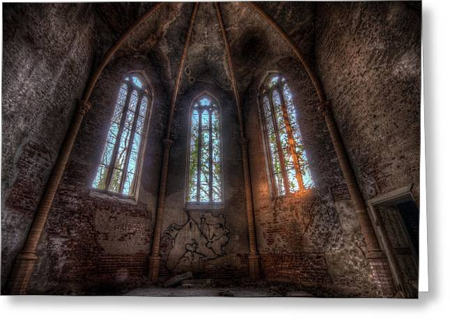 Old Rock Buildings Greeting Cards - Sunset arches Greeting Card by Nathan Wright