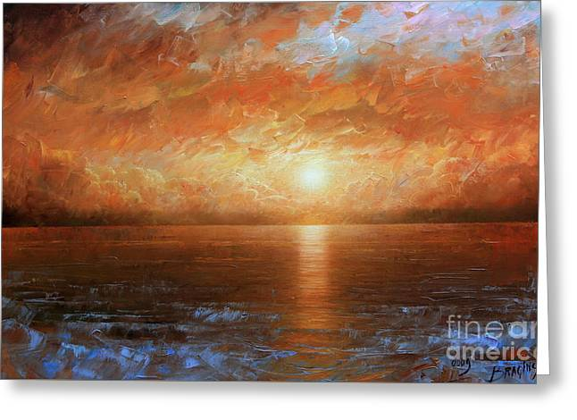 Sunset Greeting Card by Arthur Braginsky