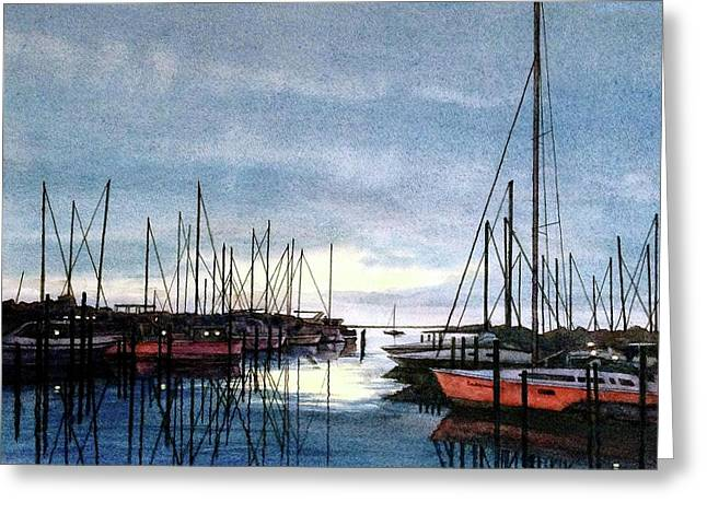 Sunset At Apollo Beach Greeting Card by Janet King