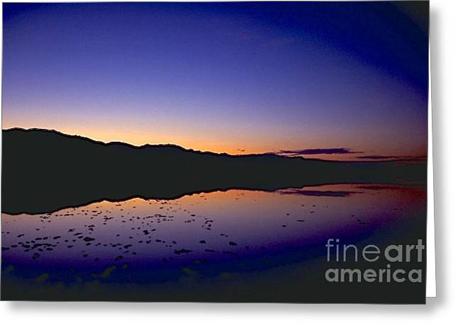 Geology Photographs Greeting Cards - Sunset at Badwater Greeting Card by Galen Trinkle