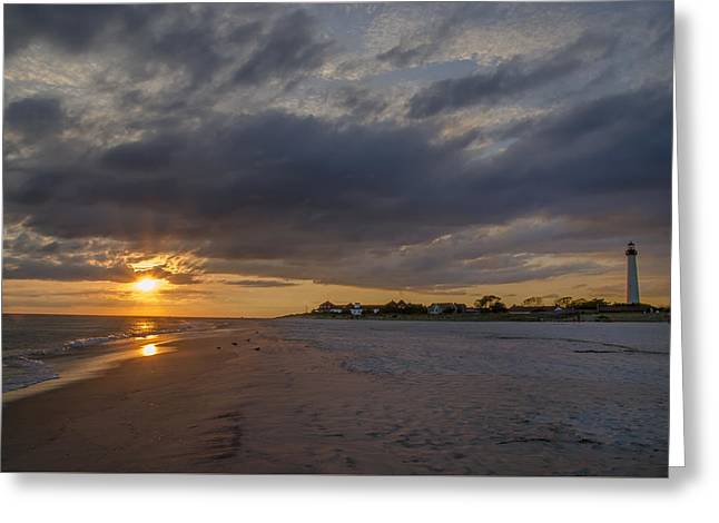 Bill Cannon Photography Greeting Cards - Sunset at Cape May Lighthouse Greeting Card by Bill Cannon