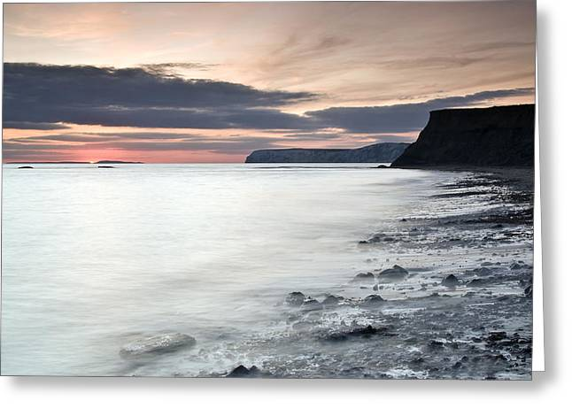 Recently Sold -  - Winter Storm Greeting Cards - Sunset At Compton Bay Greeting Card by Michael Stretton