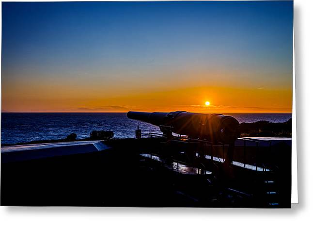 Fort Casey Greeting Cards - Sunset at Fort Casey Greeting Card by TL  Mair
