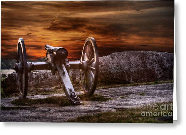 Sunset At Gettysburg Greeting Card by Randy Steele