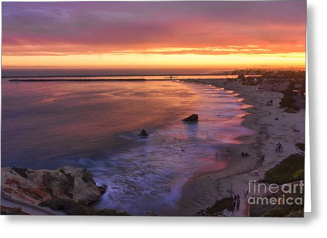 California Beaches Greeting Cards - Sunset At Inspiration Point Greeting Card by Eddie Yerkish