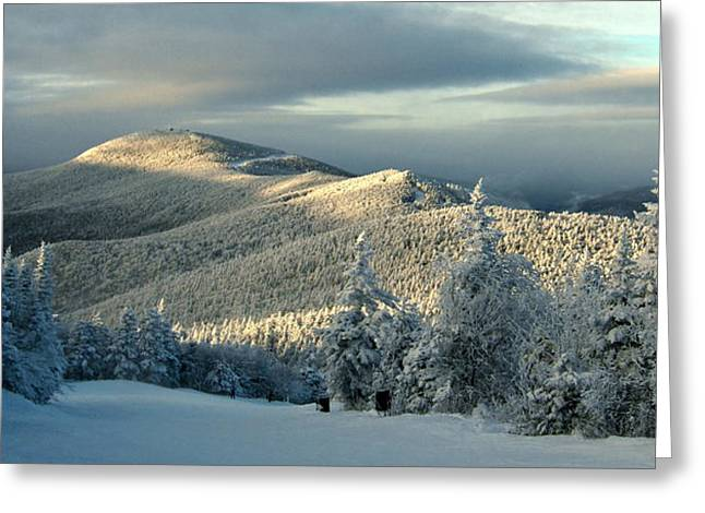Sunset At Killington Vermont Greeting Card by Angelo Rolt