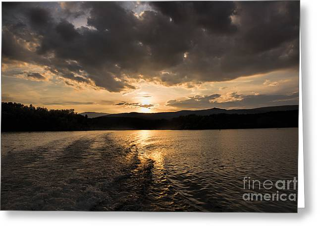 Sunset Posters Greeting Cards - Sunset at Lake James Greeting Card by Robert Loe