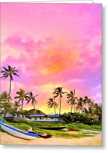 Lahaina Greeting Cards - Sunset at Lanikai Greeting Card by Dominic Piperata