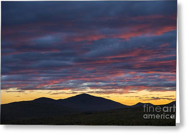 Sunset Prints Greeting Cards - Sunset at Mt. Blue Greeting Card by Alana Ranney