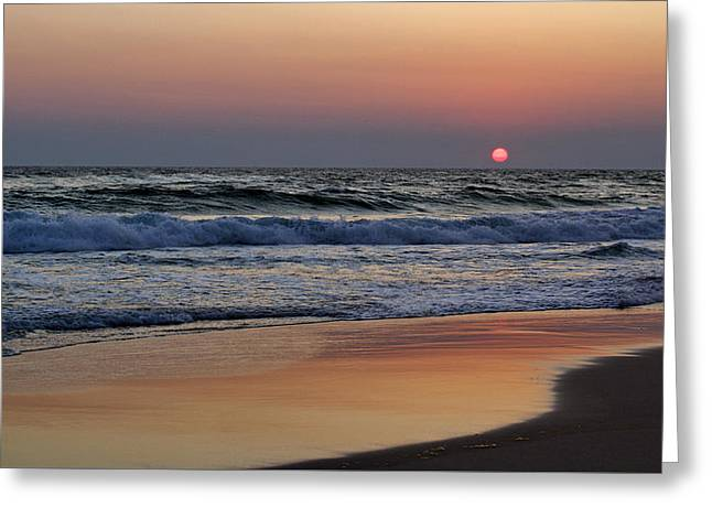 Sunset At St. Andrews Greeting Card by Sandy Keeton