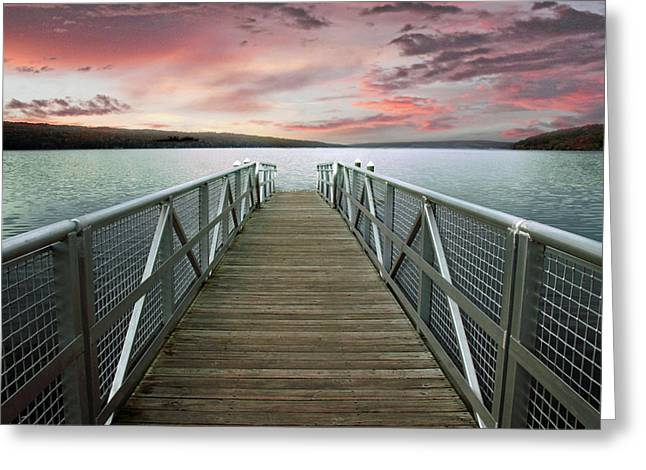 Sunset At Stewart Park Greeting Card by Jessica Jenney