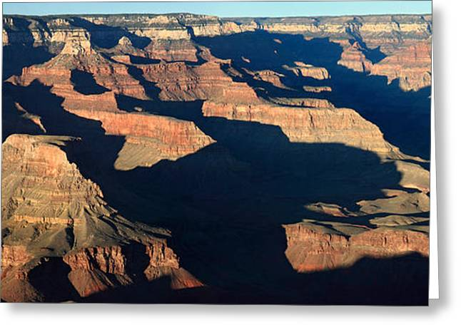 The Grand Canyon Greeting Cards - Sunset at the Grand Canyon Panorama Greeting Card by Pierre Leclerc Photography