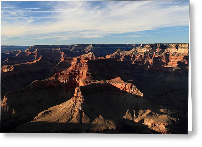 World Wonder Greeting Cards - Sunset at the Grand Canyon Greeting Card by Pierre Leclerc Photography