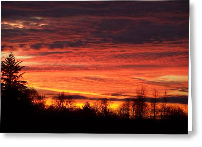 Fire Photography Pyrography Greeting Cards - Sunset At The Hanger 5 Greeting Card by Laurie Kidd