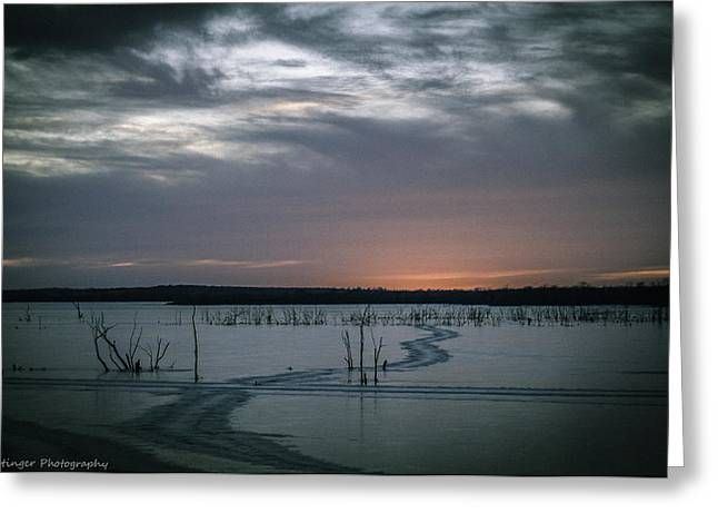 Sunset At The Lake  Greeting Card by Jackie Eatinger