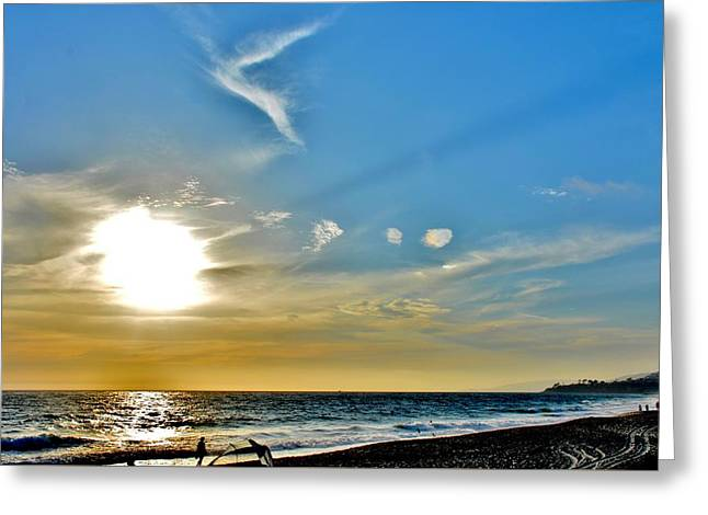 Beach Photos Greeting Cards - Sunset At The Strands Greeting Card by Rick  Keene