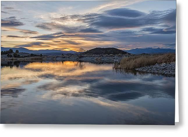 Sunset At Trout Lake Greeting Card by Loree Johnson