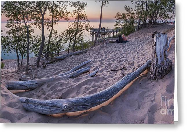 Scenic Drive Greeting Cards - Sunset atop the Bluff Greeting Card by Twenty Two North Photography