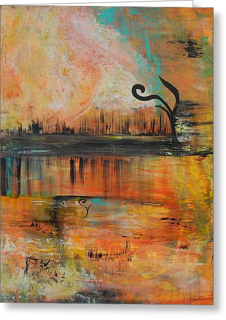 Nature Greeting Cards - Sunset Greeting Card by Azam Zadeh