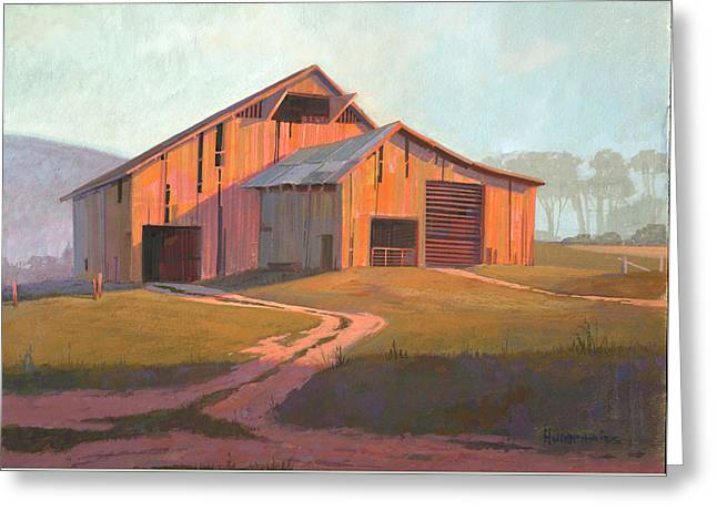 Simple Paintings Greeting Cards - Sunset Barn Greeting Card by Michael Humphries