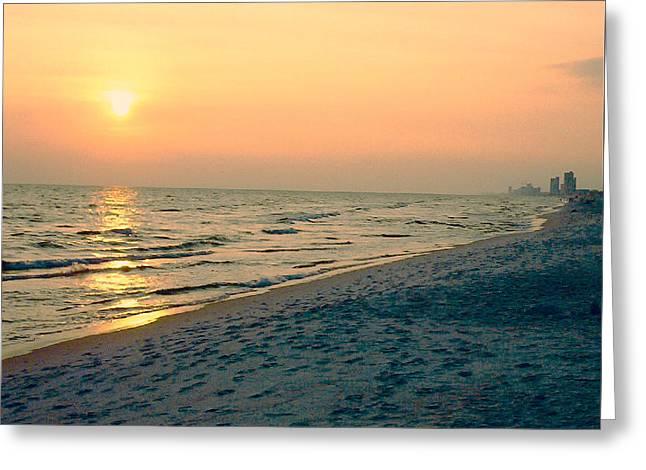 Sunset Beach Greeting Card by Arlene Price