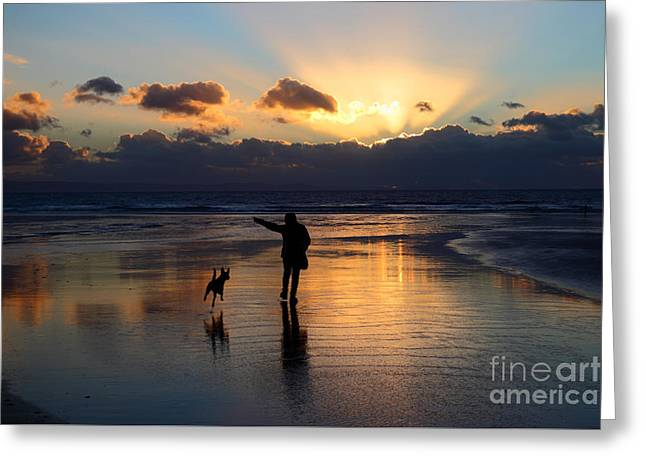 Sunset Beach Inspiration Greeting Card by James Brunker