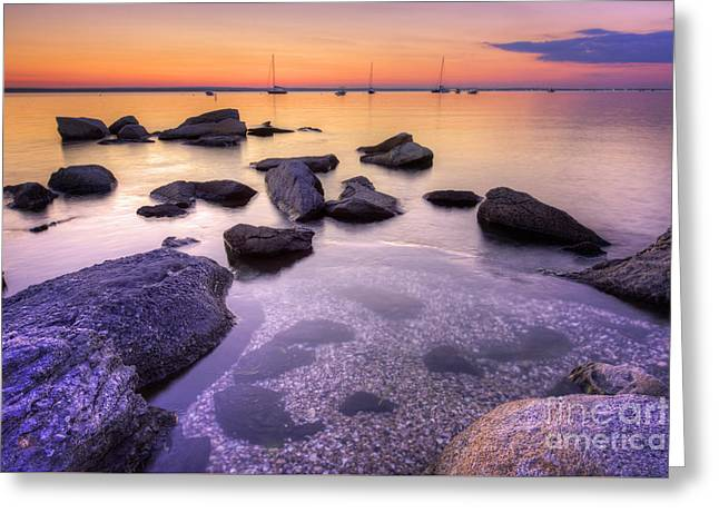 Sunset Beach Greeting Card by Juli Scalzi