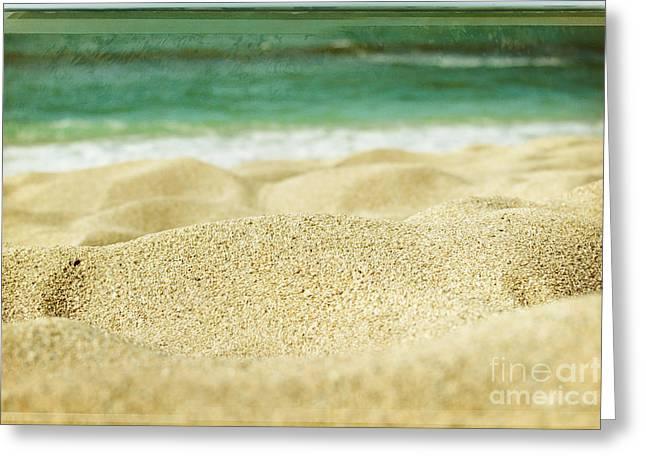 Sunset Beach Greeting Card by Sharon Mau