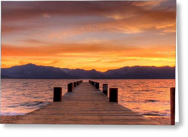 Brad Scott Greeting Cards - Sunset Bliss Greeting Card by Brad Scott
