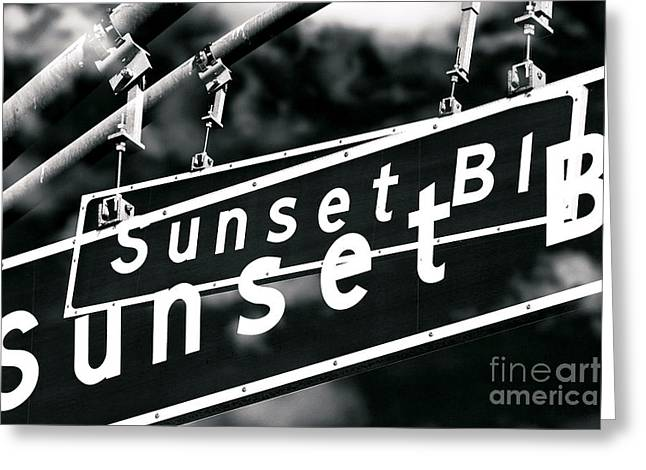 Sunset Posters Greeting Cards - Sunset Boulevard Two Times Greeting Card by John Rizzuto