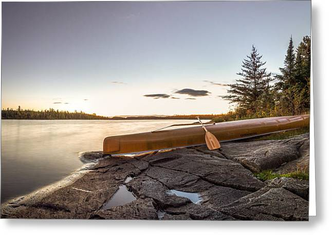 Sunset // Boundary Waters Canoe Area, Minnesota  Greeting Card by Nicholas Parker
