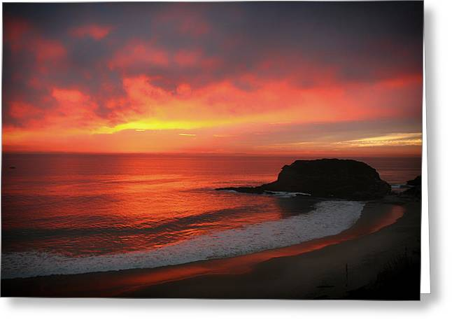 Colorful Cloud Formations Greeting Cards - Sunset Canvas Greeting Card by Matty McMatt