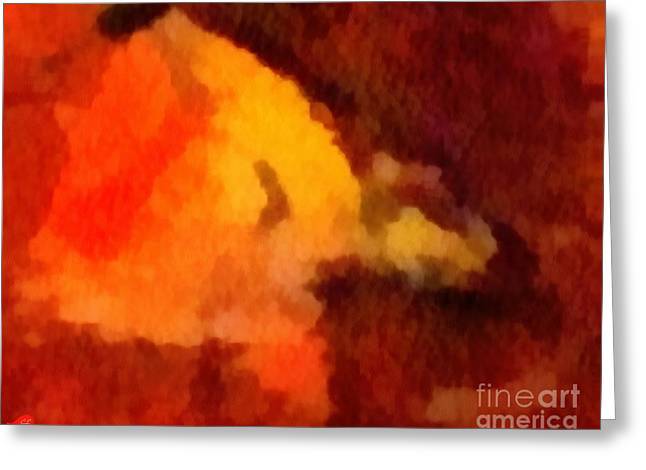 Print On Canvas Greeting Cards - Sunset Greeting Card by Catherine Lott