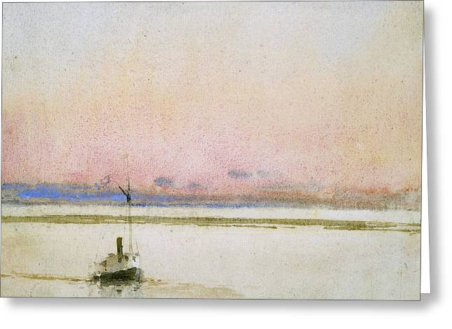 Childe Greeting Cards - Sunset Greeting Card by Childe Hassam