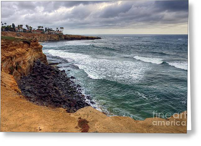 California Beaches Greeting Cards - Sunset Cliffs II Greeting Card by Eddie Yerkish