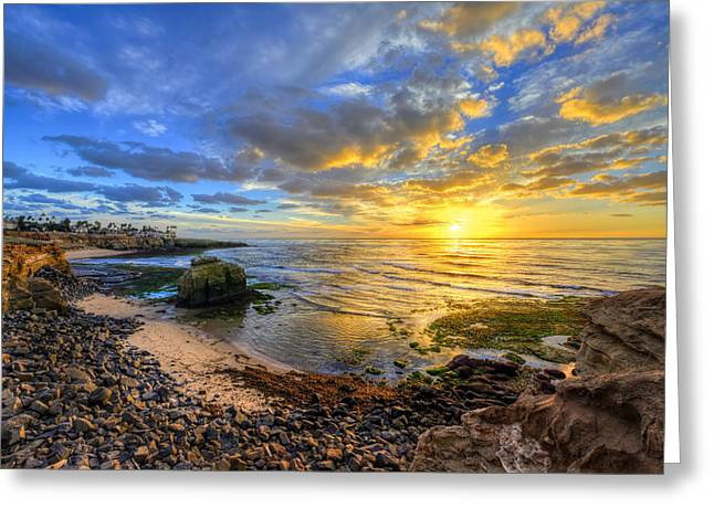 Recently Sold -  - California Ocean Photography Greeting Cards - Sunset Cliffs Greeting Card by Mark Whitt
