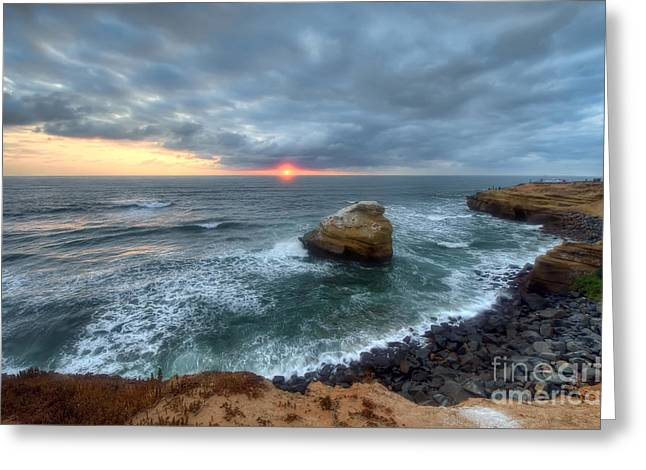 California Beaches Greeting Cards - Sunset Cliffs Natural Park Greeting Card by Eddie Yerkish