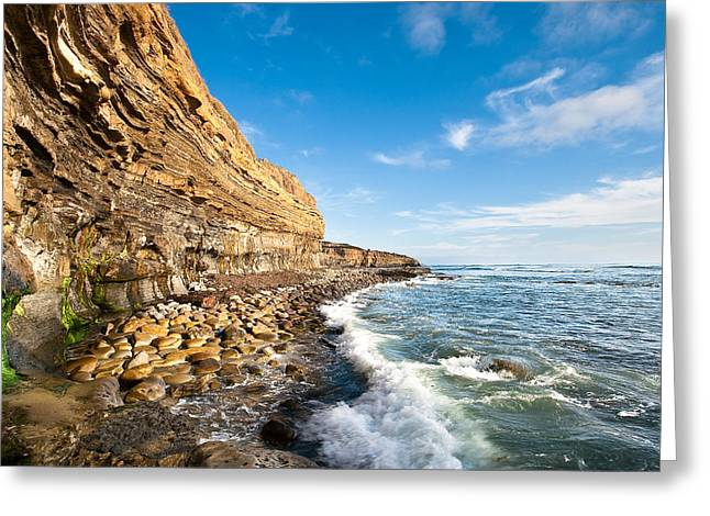 Ocean Art Photography Greeting Cards - Sunset Cliffs Greeting Card by Ryan Weddle