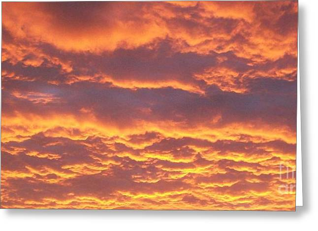 Sunset Clouds After The Storm Greeting Card by Marsha Heiken