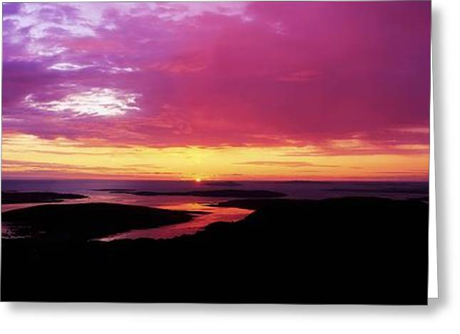 Morn Greeting Cards - Sunset, Connemara, Co Galway, Ireland Greeting Card by The Irish Image Collection