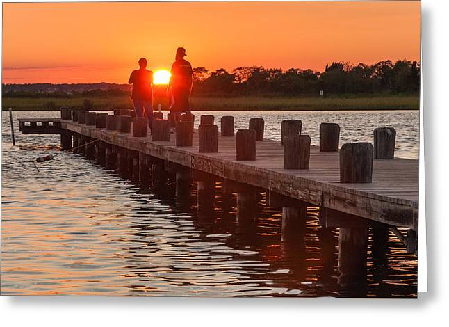 Sunset Couple Greeting Card by Kristopher Schoenleber
