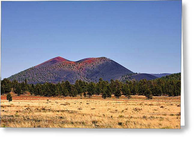 Ashes Greeting Cards - Sunset Crater Volcano National Monument Greeting Card by Christine Till
