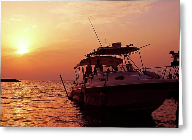 Sunset Cruise Greeting Card by Graham Taylor